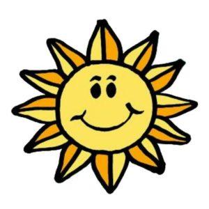 Browser Icon: Grundschulverbund Espelkamp-Süd GSV mit strahlender gelber Sonne, fröhlichen Kindern und den Standorten Benkhausen, Isenstedt, Frotheim in Blau, Grün Gelb.