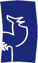 Standort-Logo: GSV Espelkamp-Süd Benkhausen - weiß umrandeter Hahn auf blauem Hintergrund